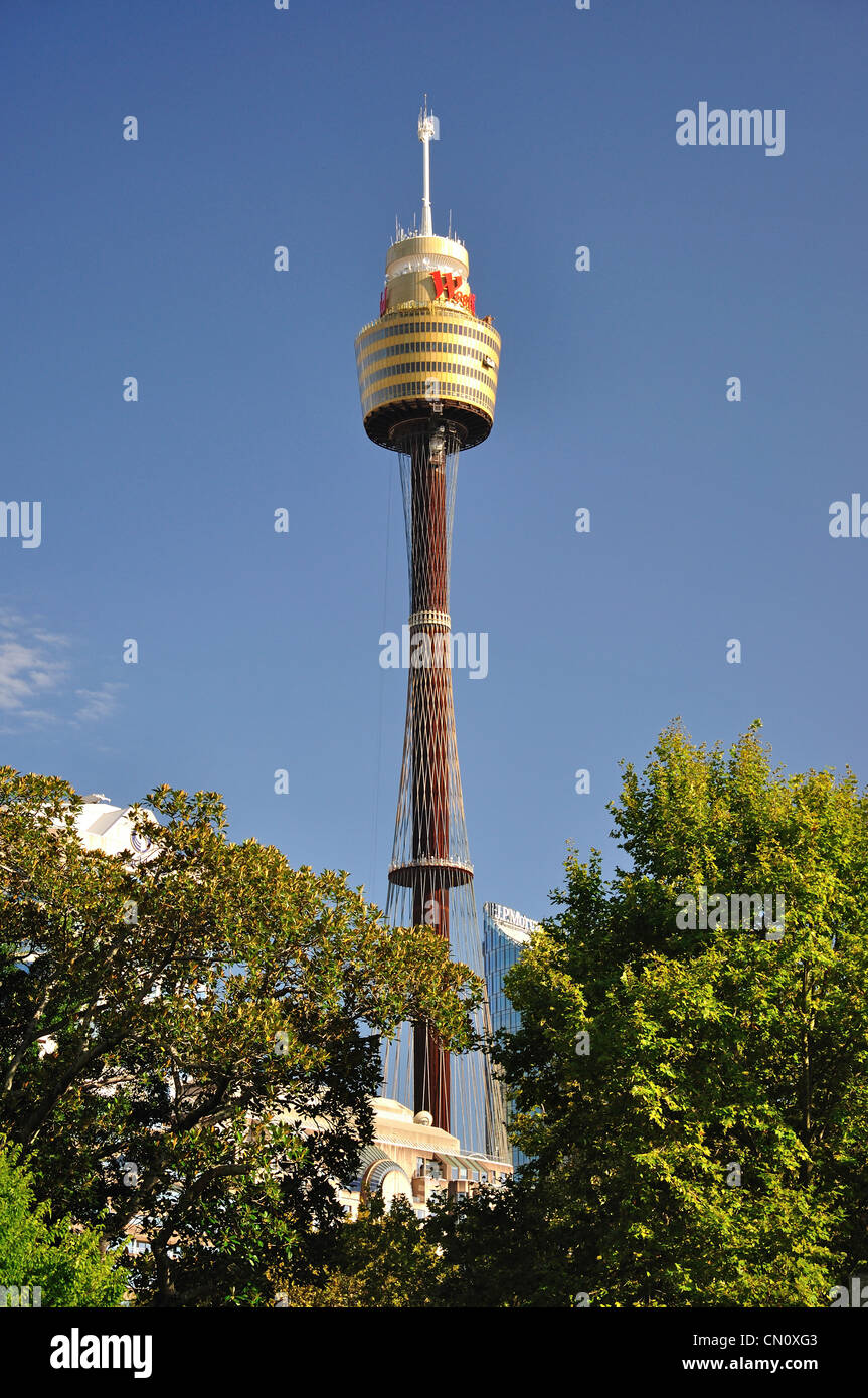 The Sydney Tower in Central Business District, Sydney, New South Wales, Australia - Stock Image