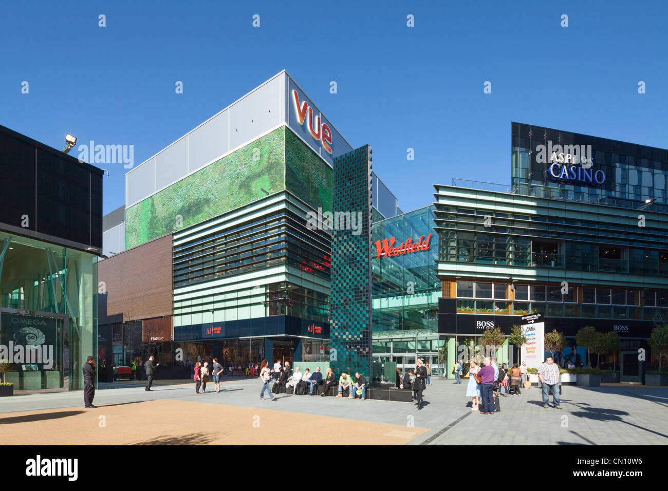 Westfield Stratford City adjacent to Olympic Park, London, UK, 26th March 2012 Stock Photo