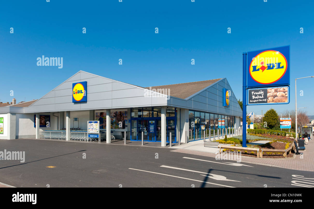 Lidl supermarket UK - Stock Image