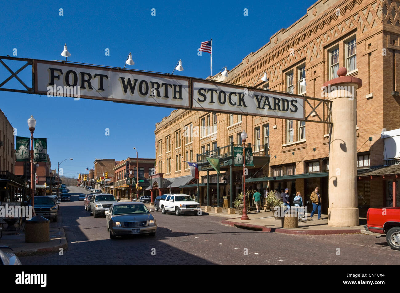 Fort Worth Stockyards Historic District, Fort Worth, Texas, USA - Stock Image