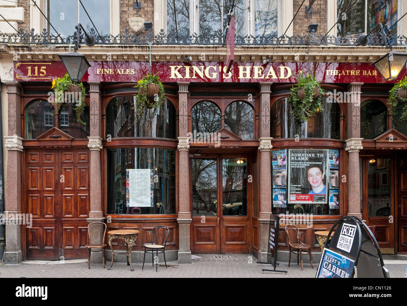 Kings Head pub, Islington, London, UK - Stock Image