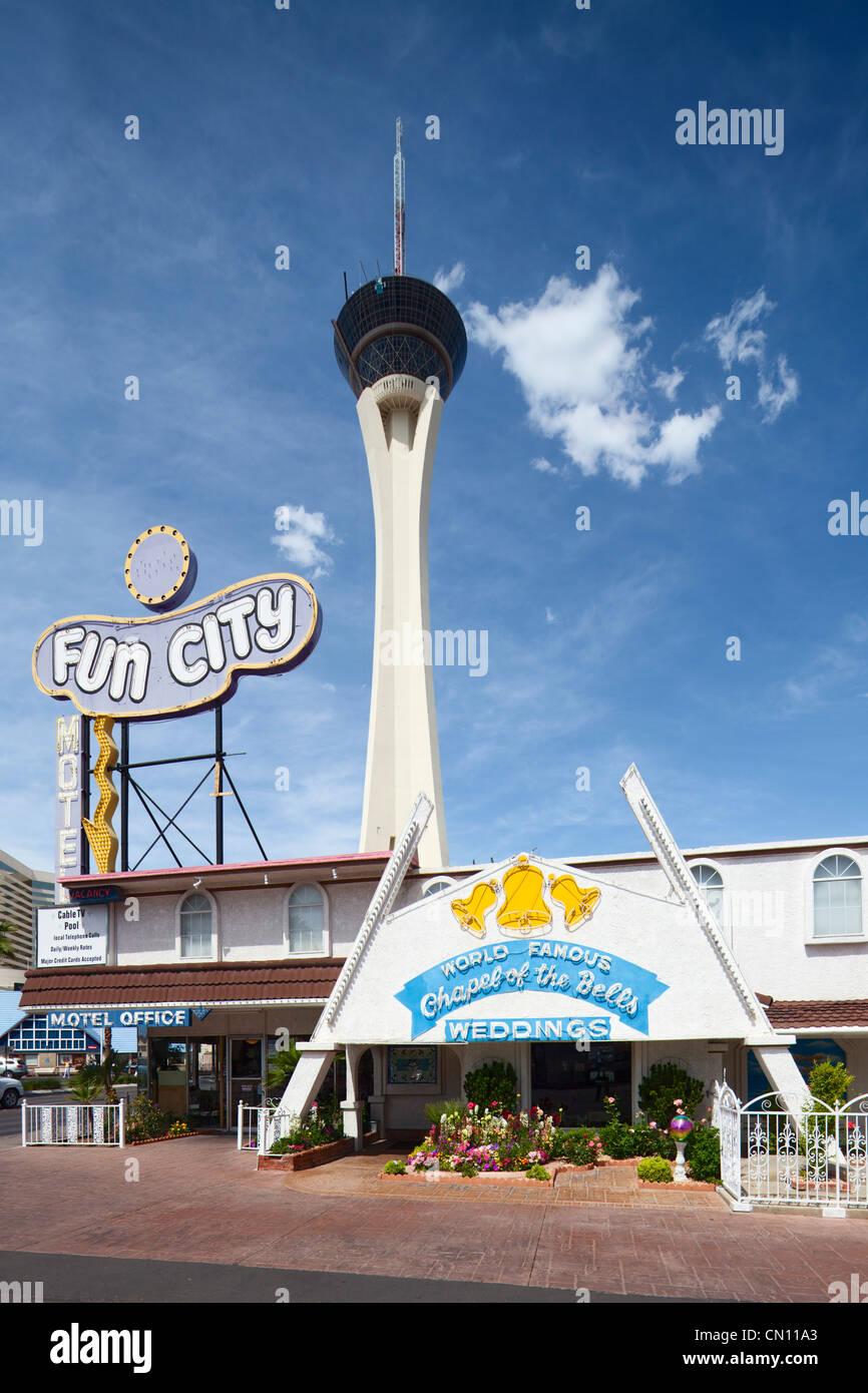 Chapel of Bells, Stratosphere, Las Vegas Paradise - Stock Image