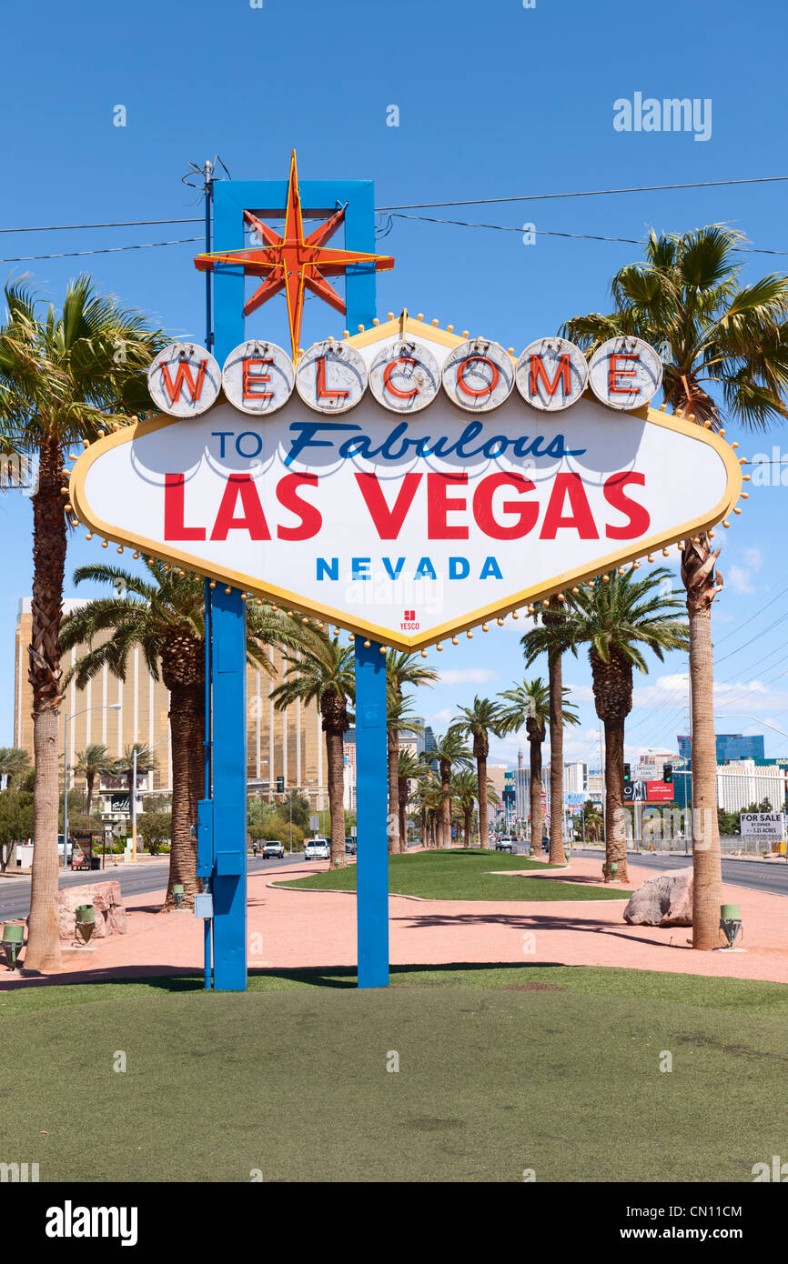 Welcome to Fabulous Las Vegas sign Paradise Stock Photo