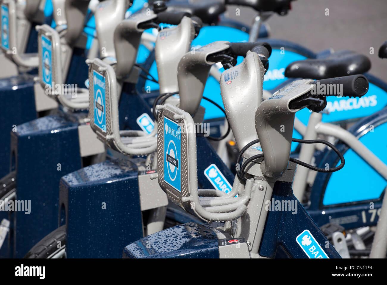 Boris' Bikes scheme, London, UK - Stock Image