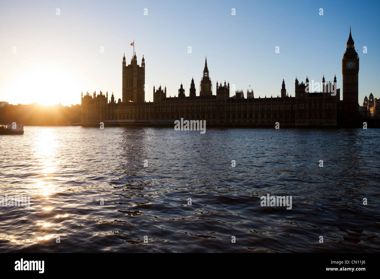 Houses of Parliament, London, UK - Stock Image