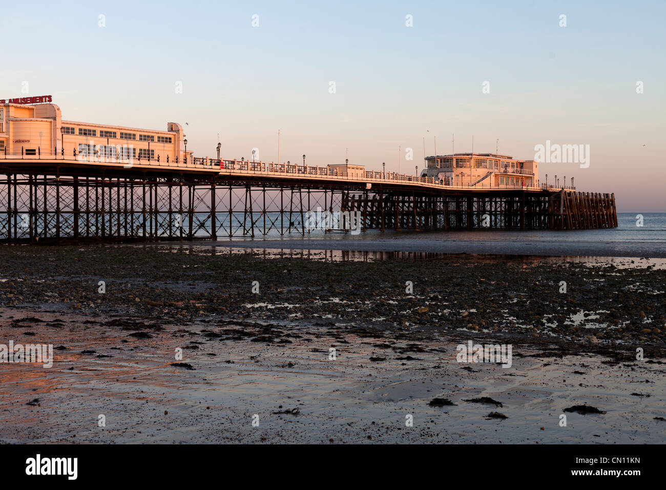 Worthing Pier, West, Sussex,Sunset - Stock Image