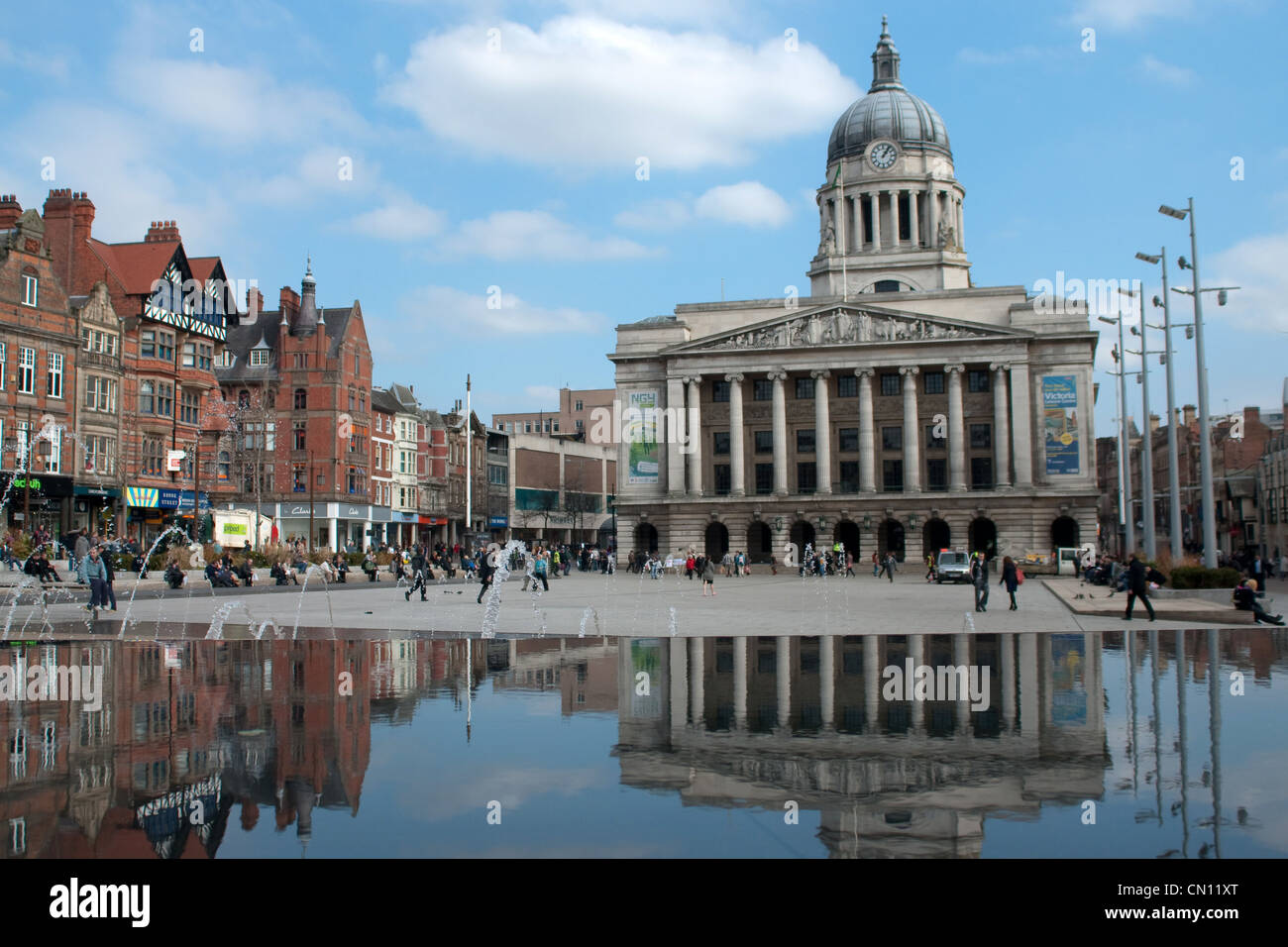 The Old Market Square in Nottingham, England - Stock Image