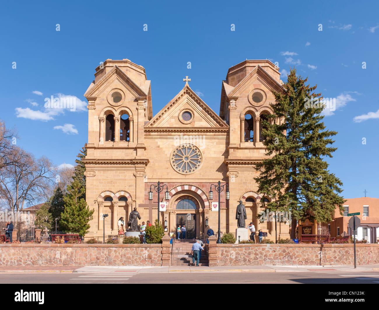 St. Francis Assisi Cathedral Basilica, Santa Fe - Stock Image