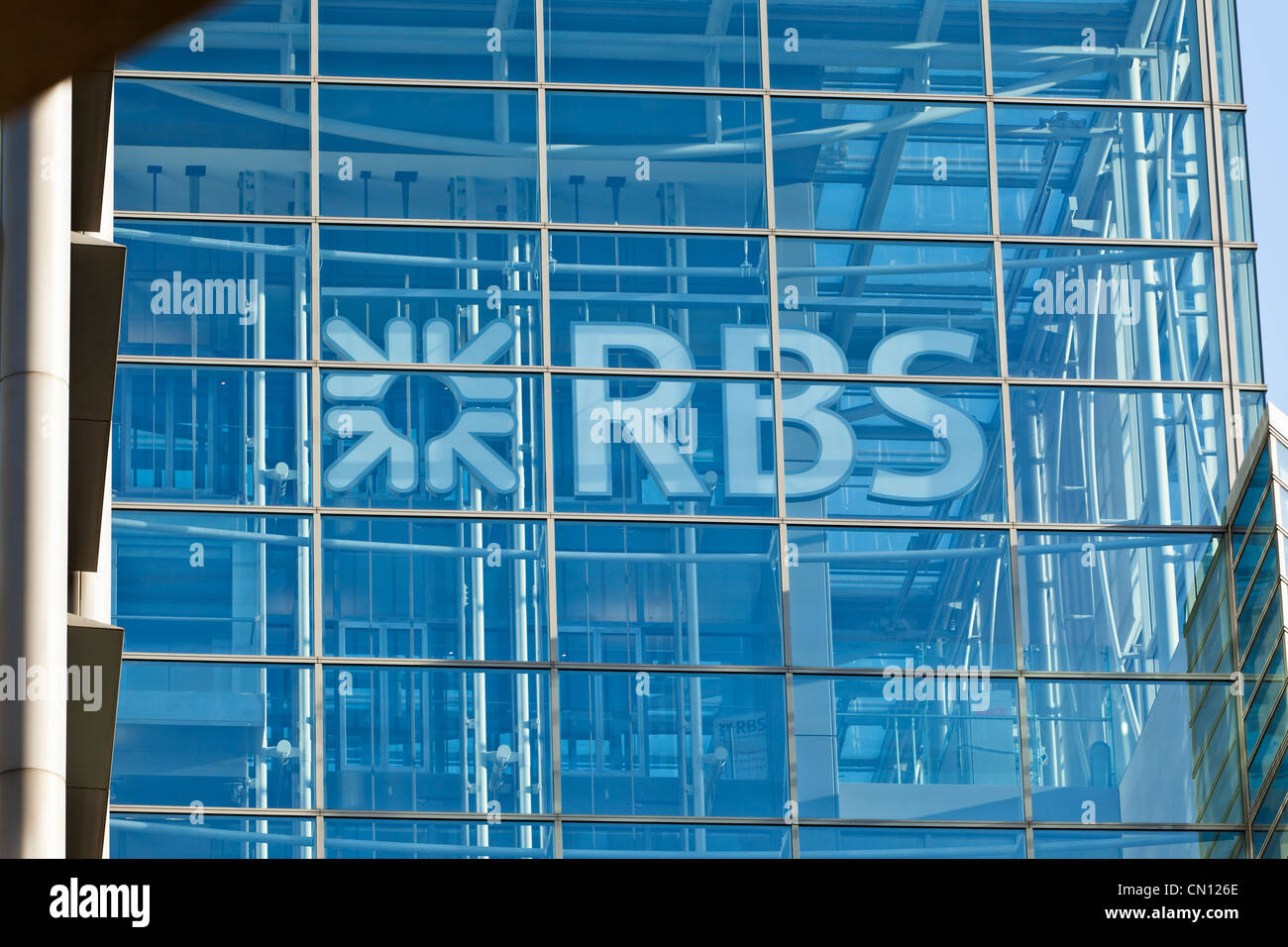 Royal bank of Scotland RBS in City of London - Stock Image