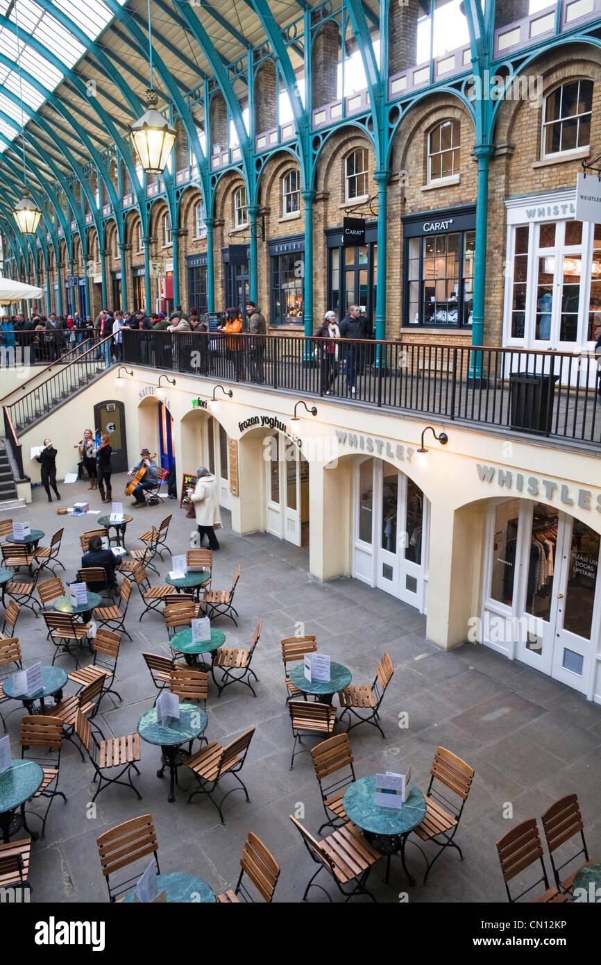 Covent Garden, London, UK - interior - Stock Image