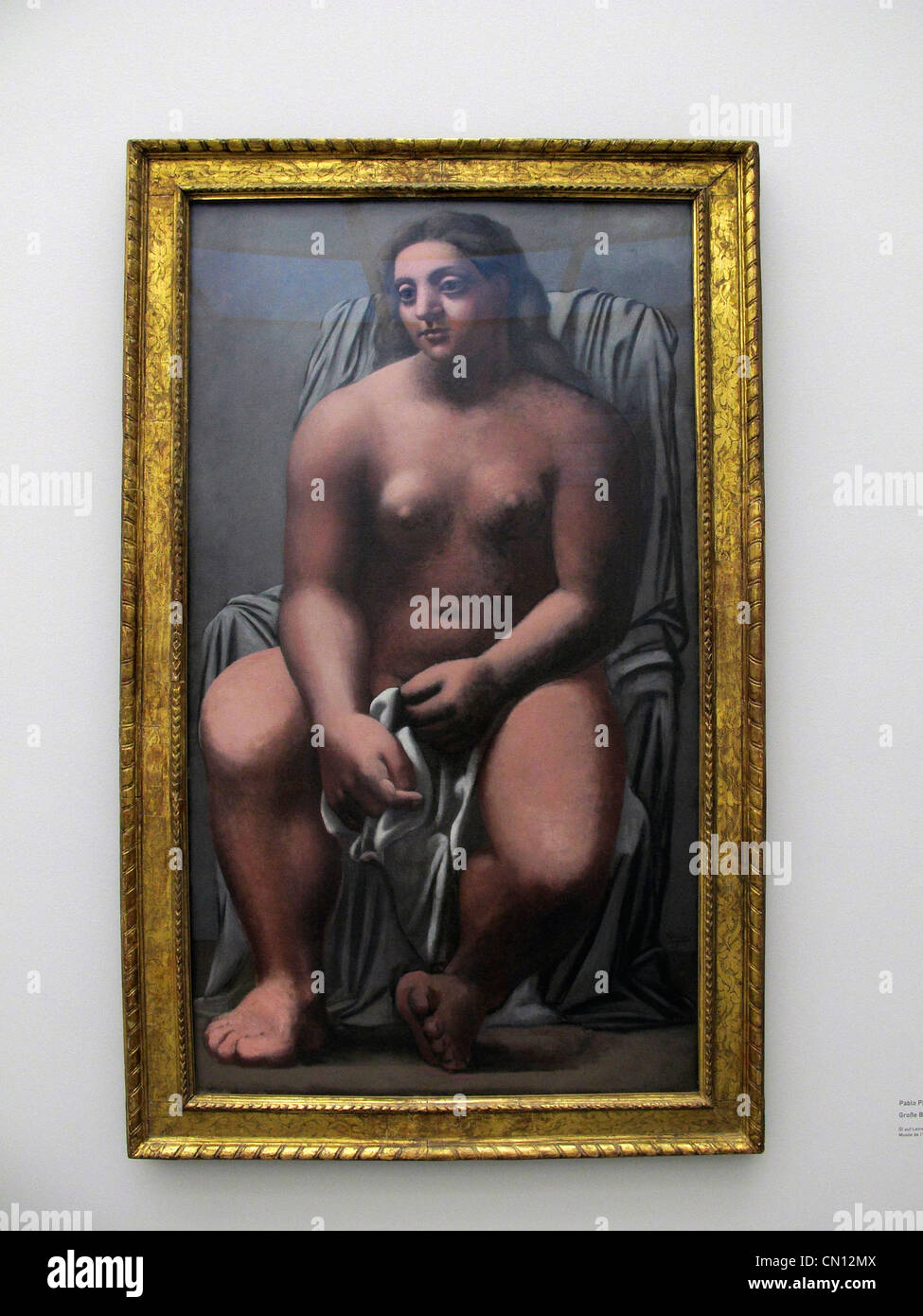 Germany Munich Pinakothek der Moderne 'Women' Picasso Beckmann De Kooning 2012 March. Large Bather 1921 - Stock Image