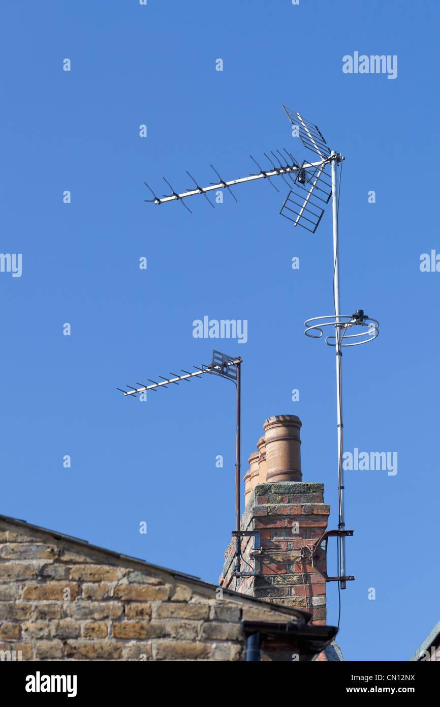 UK Digital television aerial - Stock Image