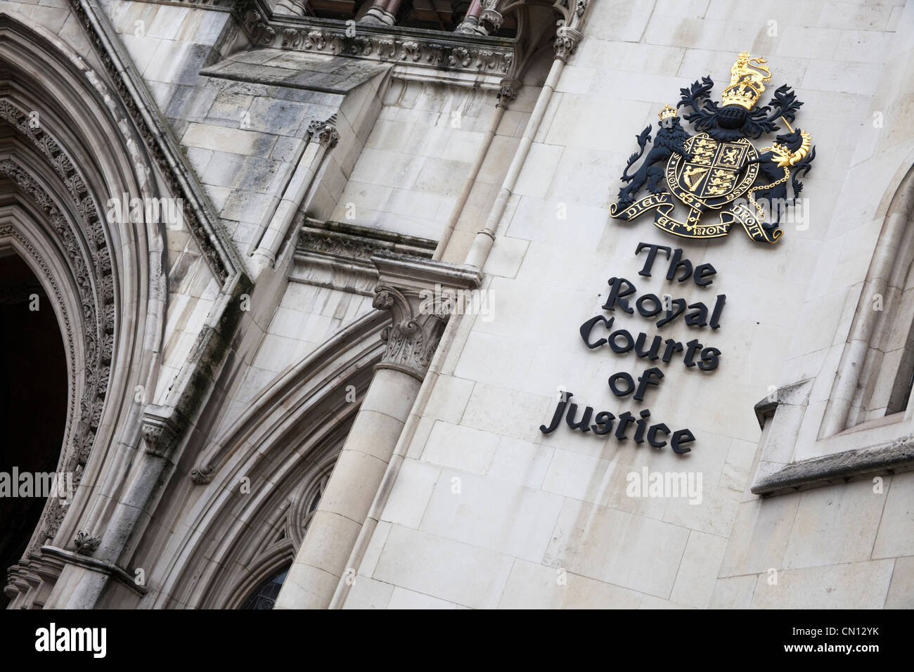 Royal Courts of Justice, London, UK - Stock Image