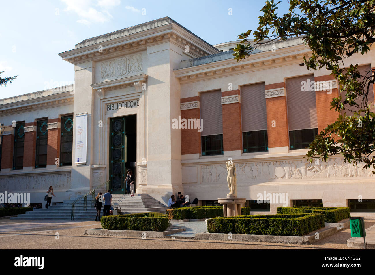 Municipal Library, Bibliotheque Municipale, Rue du Perigord, Toulouse, Midi-Pyrenees, France - Stock Image