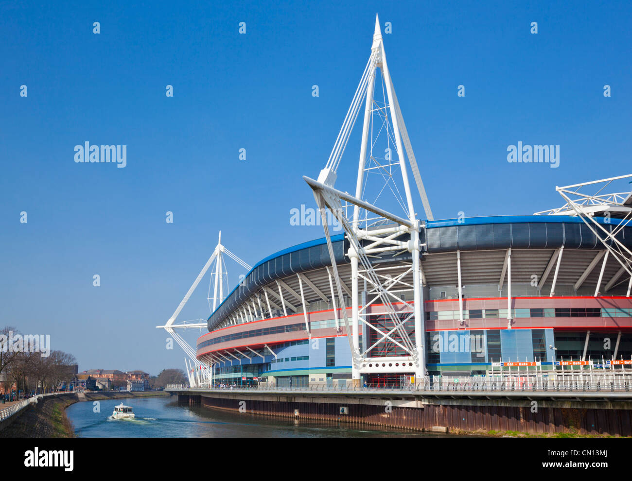 Principality Stadium or BT Millennium stadium a sporting and concert venue in the city centre Cardiff South Glamorgan - Stock Image
