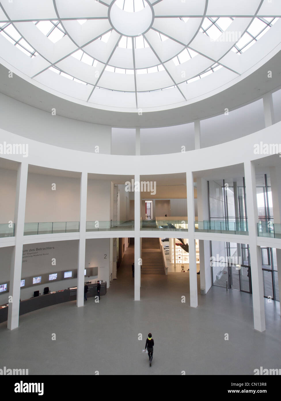 Entrance atrium at Pinakothek Moderne art museum in Munich Germany Stock Photo