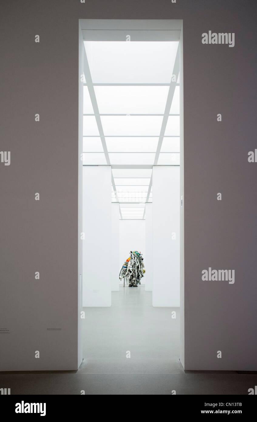 Sculpture Acme Thuderer at Pinakothek Moderne art museum in Munich Germany Stock Photo