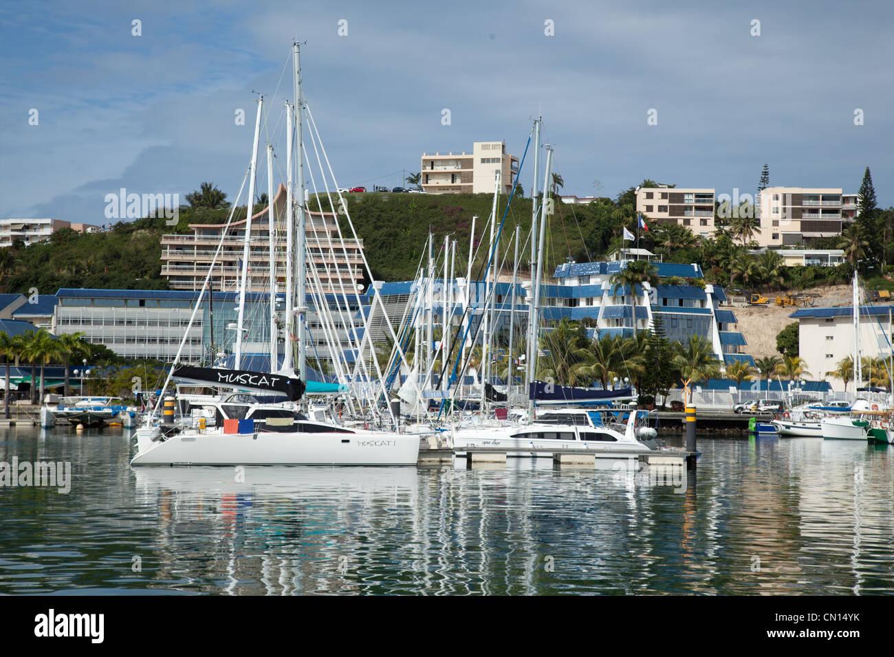 Yachts Noumea New Caledonia - Stock Image