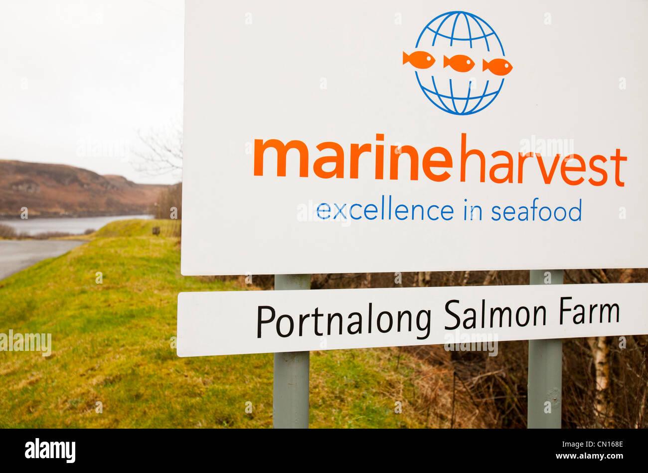 The Portnalong Salmon Farm, Isle of Skye, Scotland, UK. Stock Photo