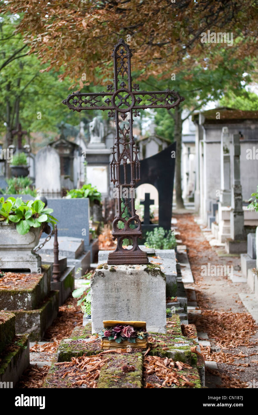 Pere Lachaise Cemetery, Paris, France - Stock Image