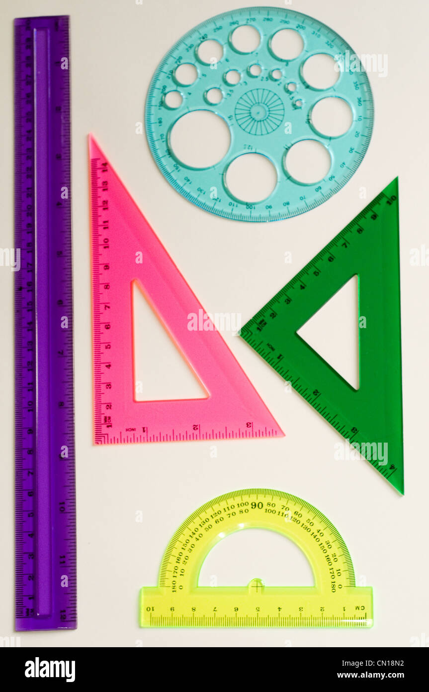 geometry implements - Stock Image