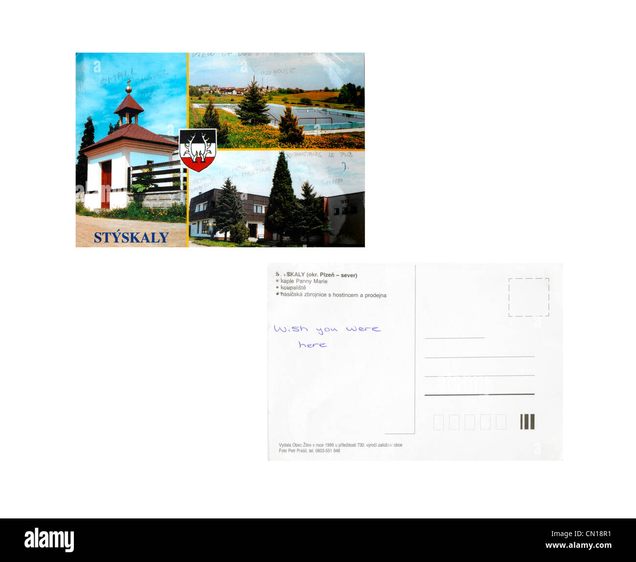 Postcard From Styskaly In Czech Republic Front And Back With