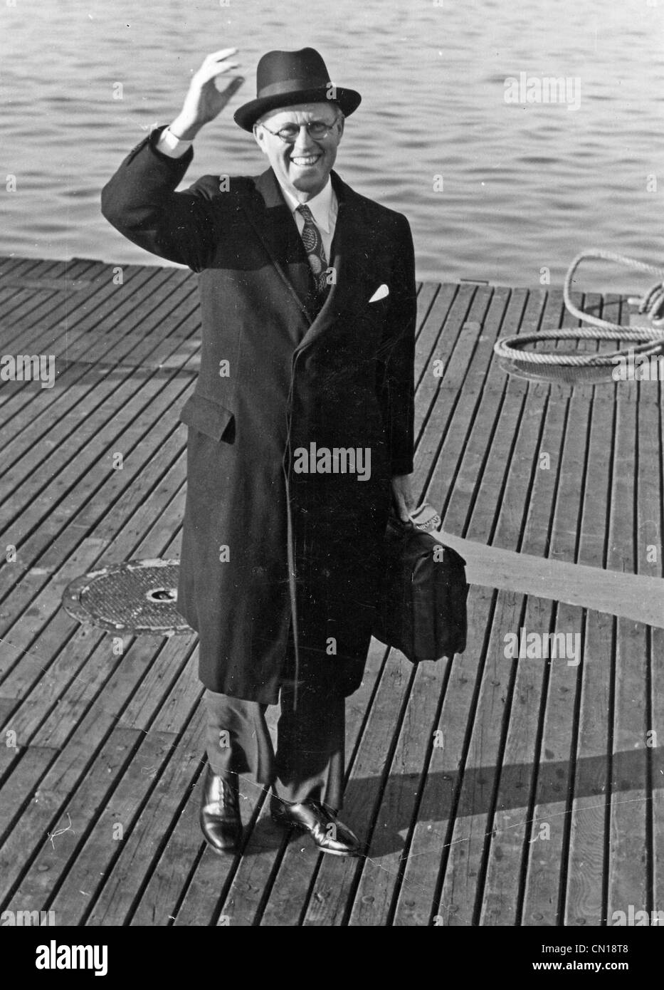 JOSEPH P KENNEDY  (1888-1969) US businessman, father of JFK, here in 1939 as US Ambassador to the UK. - Stock Image