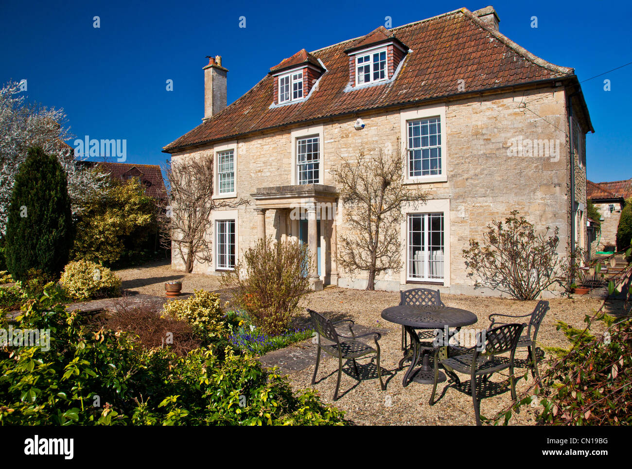 Typical 18th Century Manor House In A Rural English