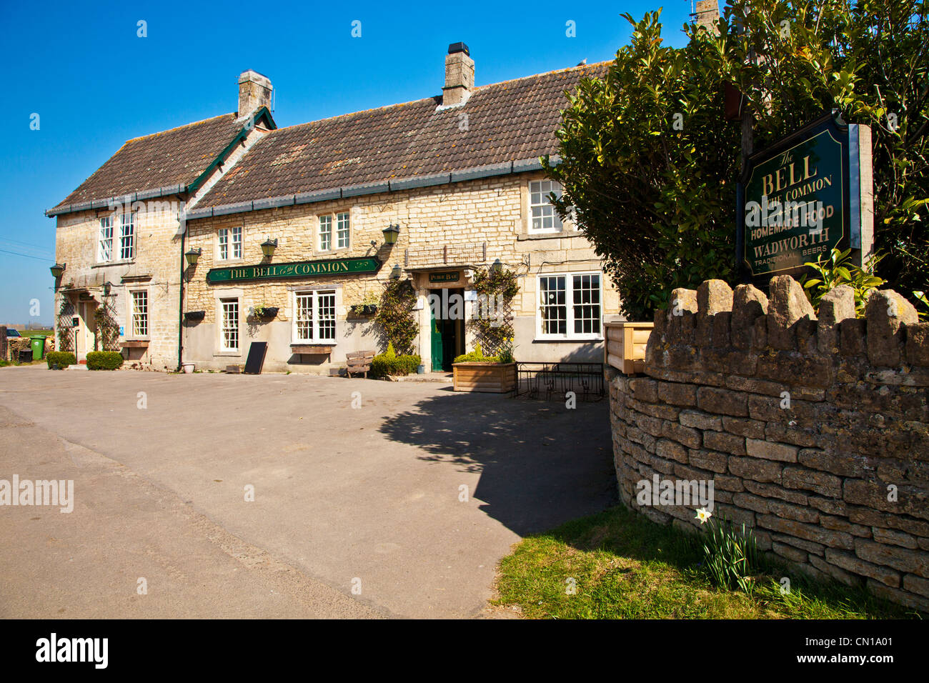 A typical, English country village pub or inn in Wiltshire, England, UK - Stock Image