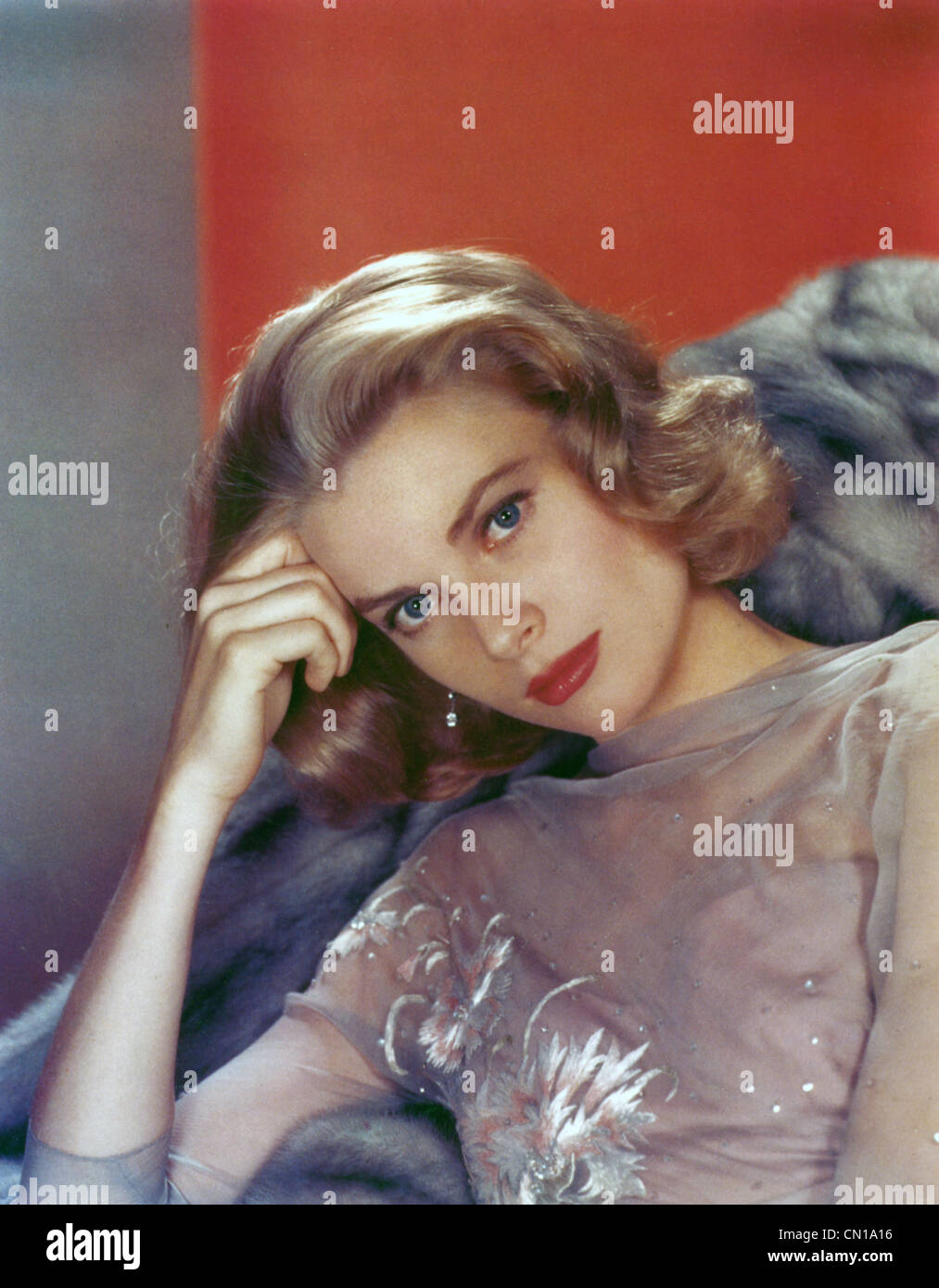 GRACE KELLY (1929-1982) US film actress in 1956 - Stock Image