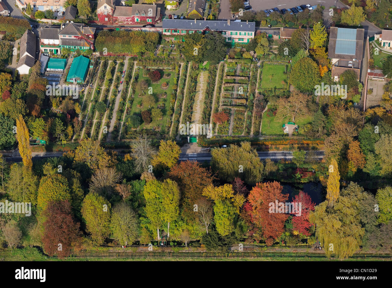 Giverny Aerial View Stock Photos & Giverny Aerial View Stock Images ...