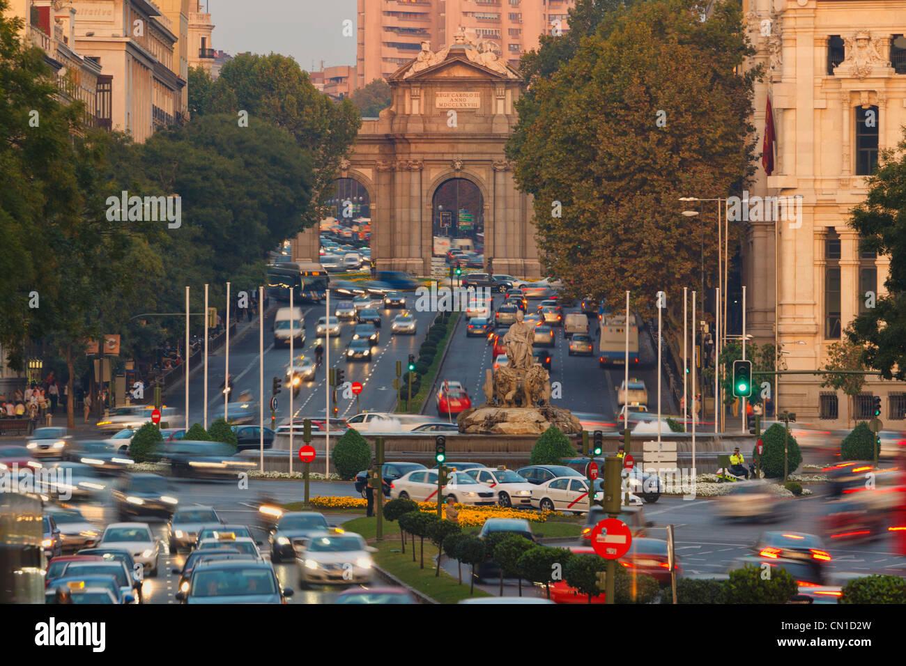 Madrid, Spain. Calle de Alcala. - Stock Image