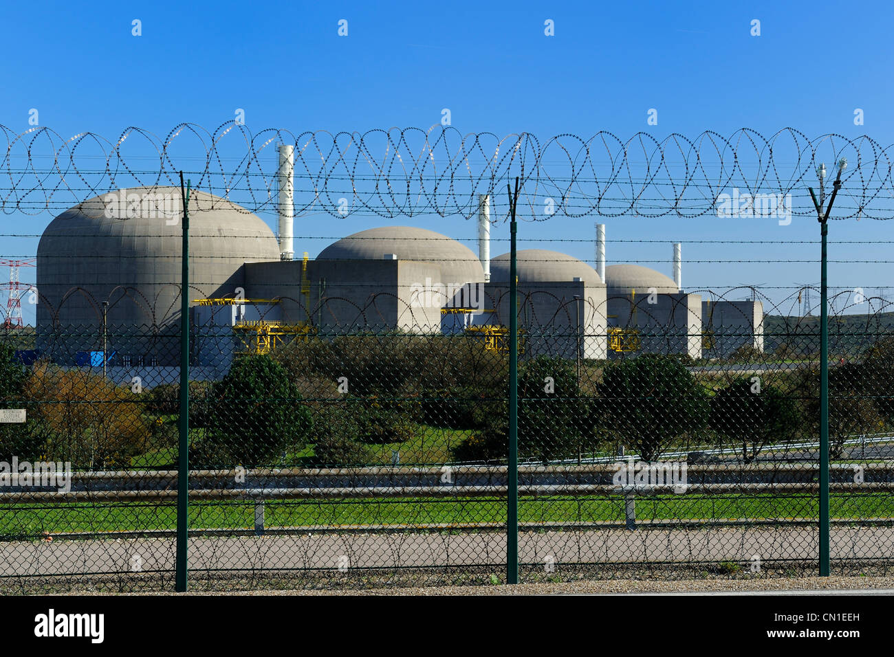 France, Seine Maritime, Nuclear power station Paluel - Stock Image