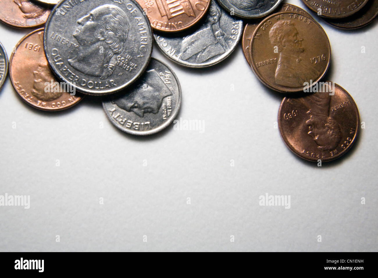 American Coins - Stock Image