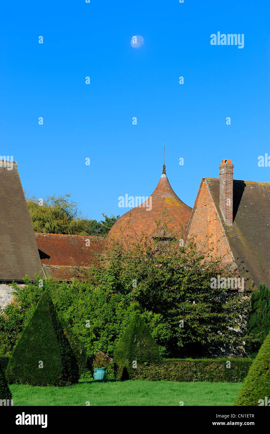 France, Seine Maritime, Varengeville sur Mer, the Manoir d' Ango (Ango Manor) - Stock Image