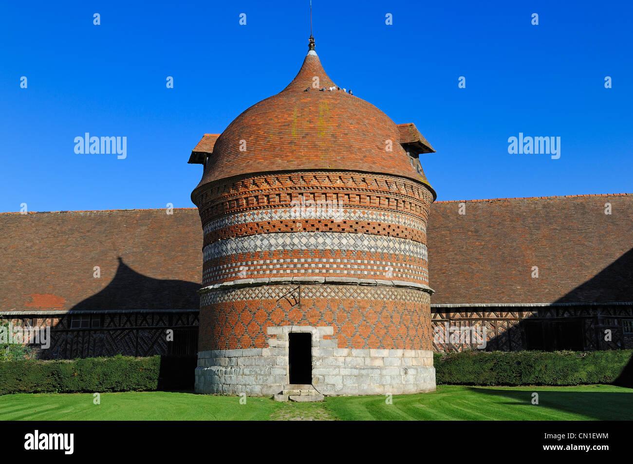 France, Seine Maritime, Varengeville sur Mer, dovecote of the Manoir d' Ango (Ango Manor) - Stock Image