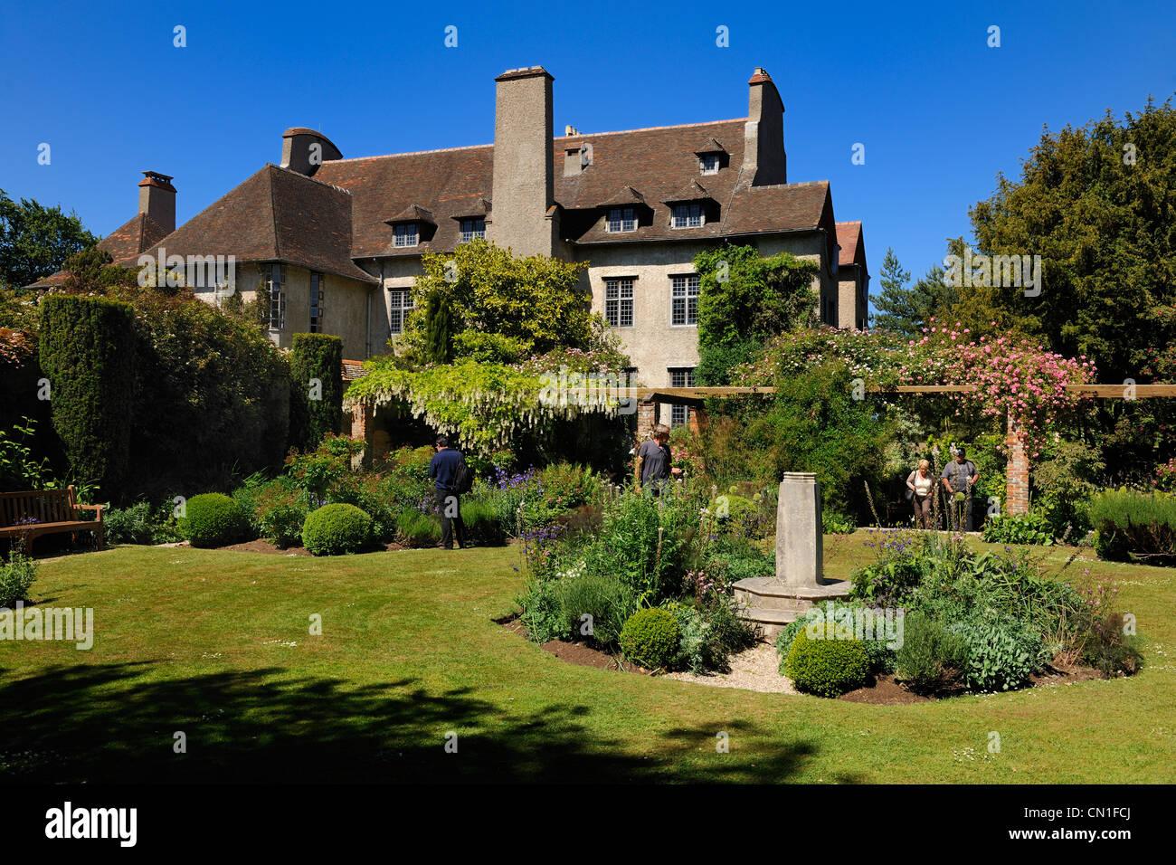 France, Seine Maritime, Varengeville sur Mer, manor of Le Bois des Moutiers Estate - Stock Image