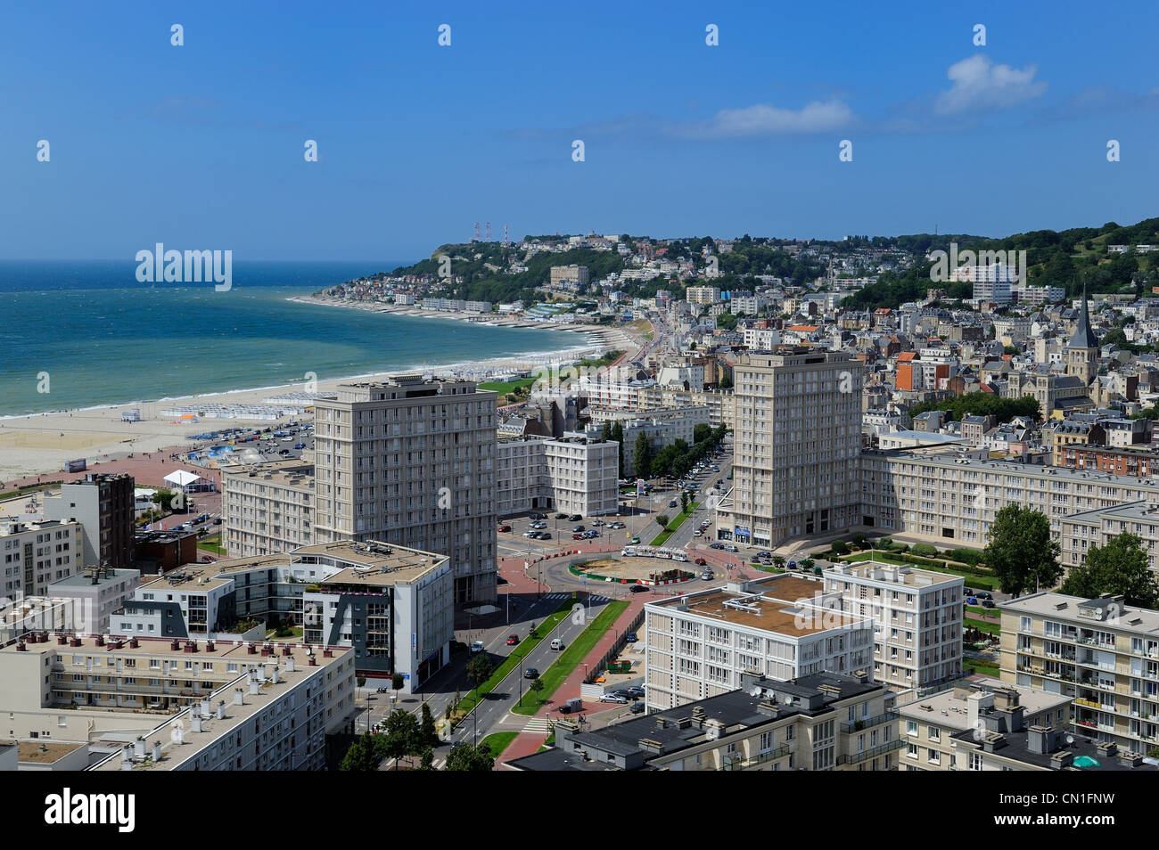France, Seine Maritime, Le Havre, Downtown rebuilt by Auguste Perret listed as World Heritage by UNESCO, Perret - Stock Image