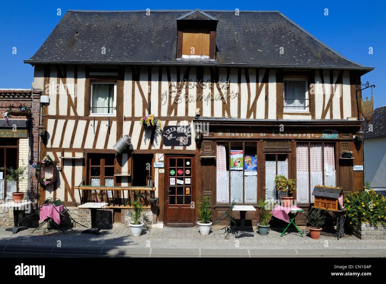 France, Eure, Marais Vernier, auberge de l'Etampage - Stock Image