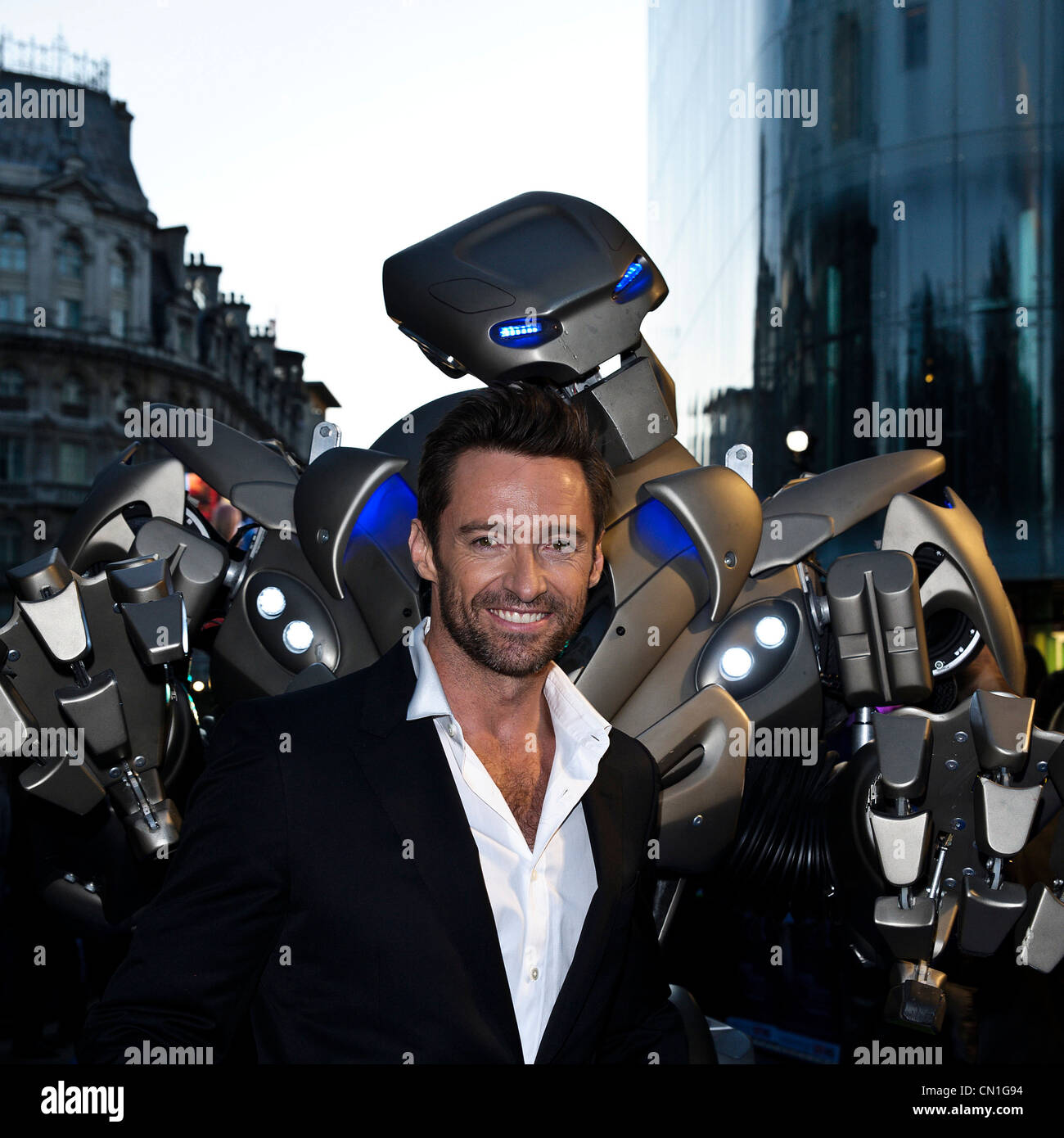 14/09/2011. The Empire, Leicester Square, London, Uk. Actor Hugh Jackman attends the UK Premiere of Real Steel. - Stock Image