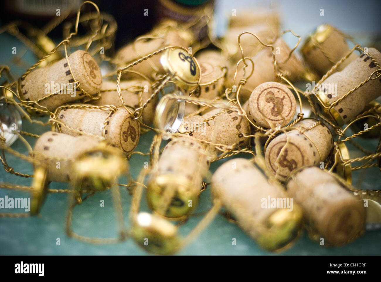 Pile of Discarded Corks - Stock Image