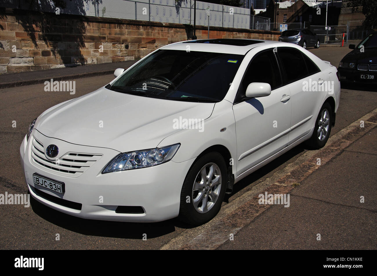 Toyota White Car Stock Photos Images Alamy Camry With Bbs Rims Parked In The Rocks Sydney Harbour New South Wales