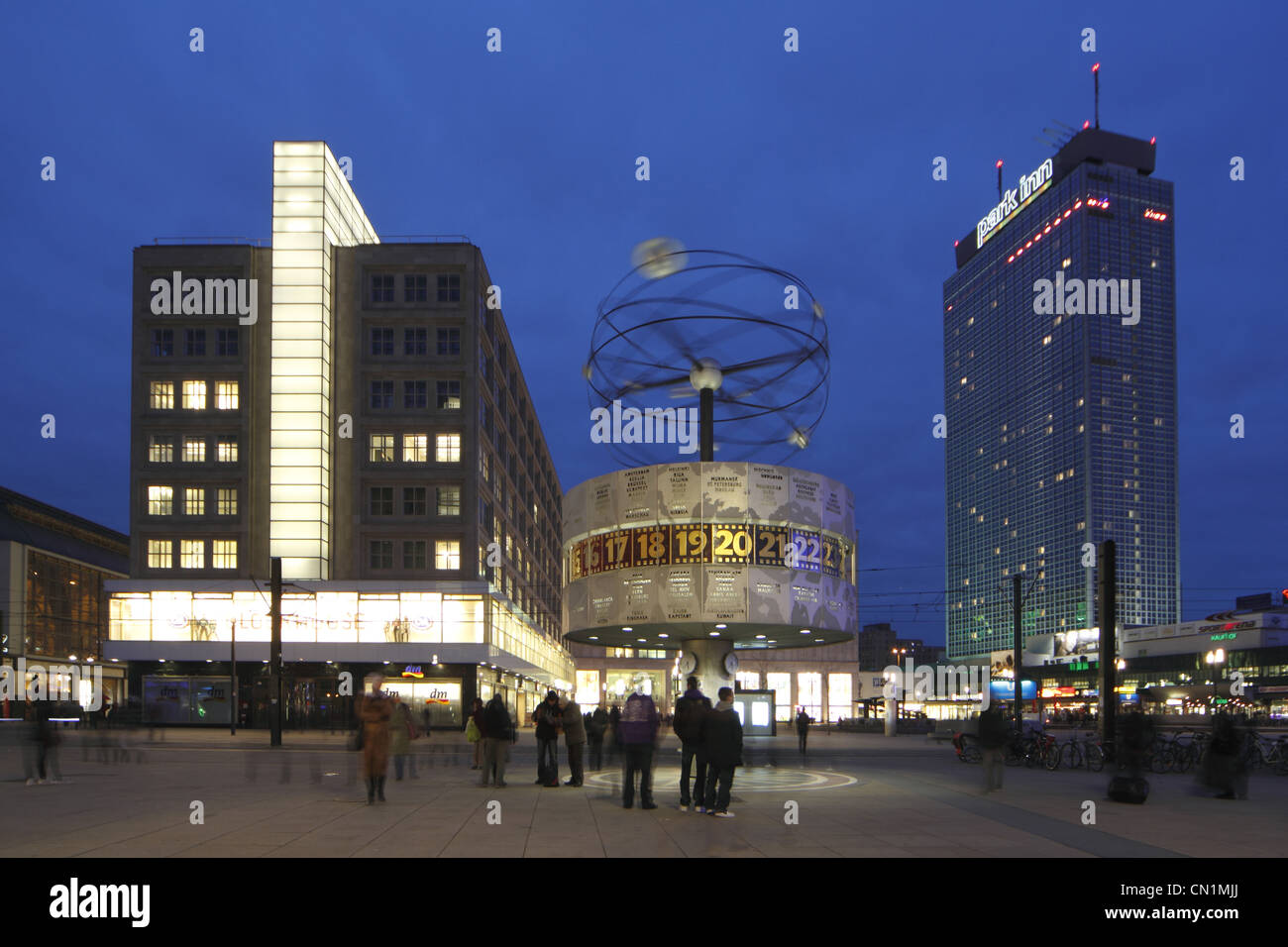 Berlin Mitte Alexander Square Place World Time Clock Stock Photo