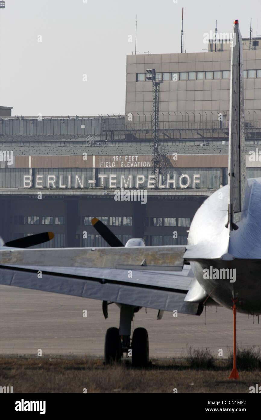 Berlin Airport Tempelhof - Stock Image