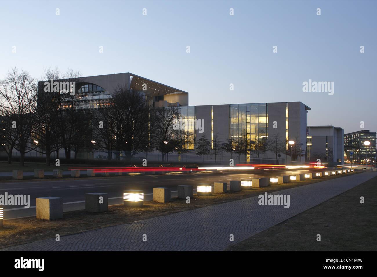 Berlin Kanzleramt Ferderal Chancellery Chancellory - Stock Image