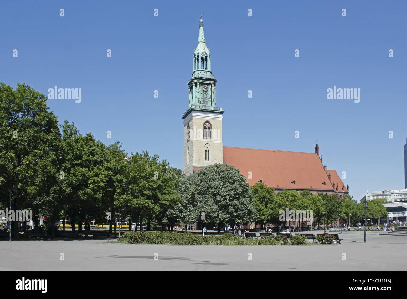 Deutschland Berlin Mitte St Mary Church - Stock Image