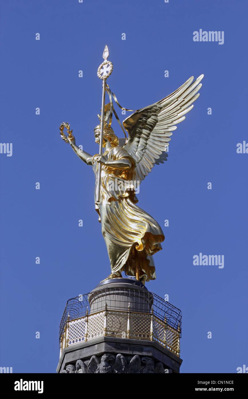 Berlin Mitte Tiergarten Victory Column - Stock Image
