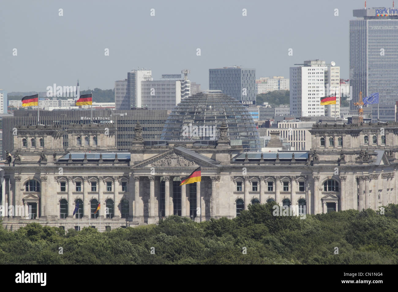 Berlin Mitte Reichstag Skyline Stock Photo