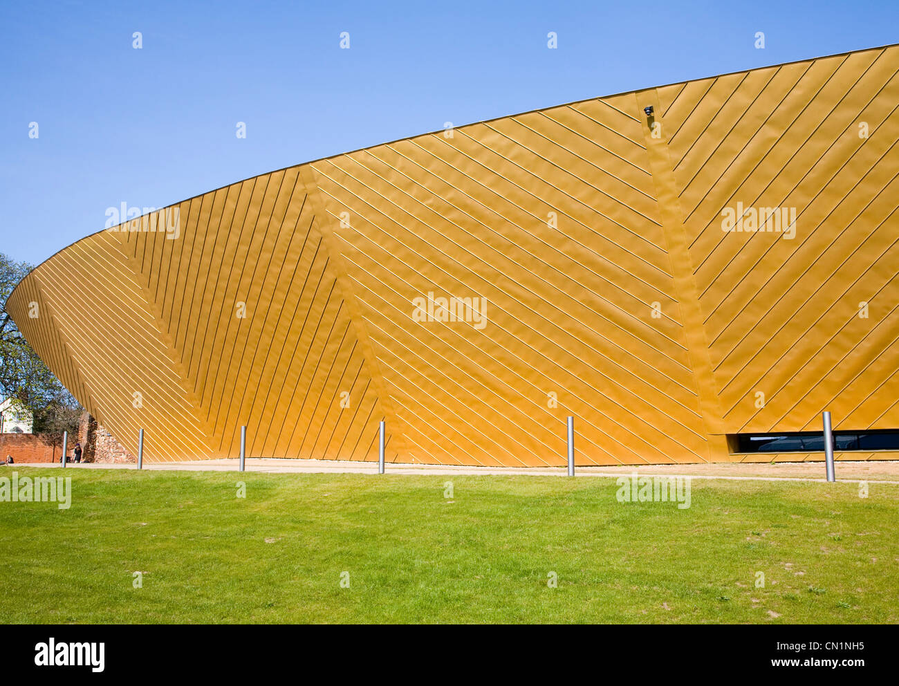 Firstsite visual arts centre Colchester, Essex, England, architect Rafael Vinoly - Stock Image