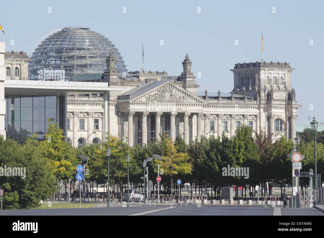 Berlin Mitte Square Of Republic Reichstag Stock Photo